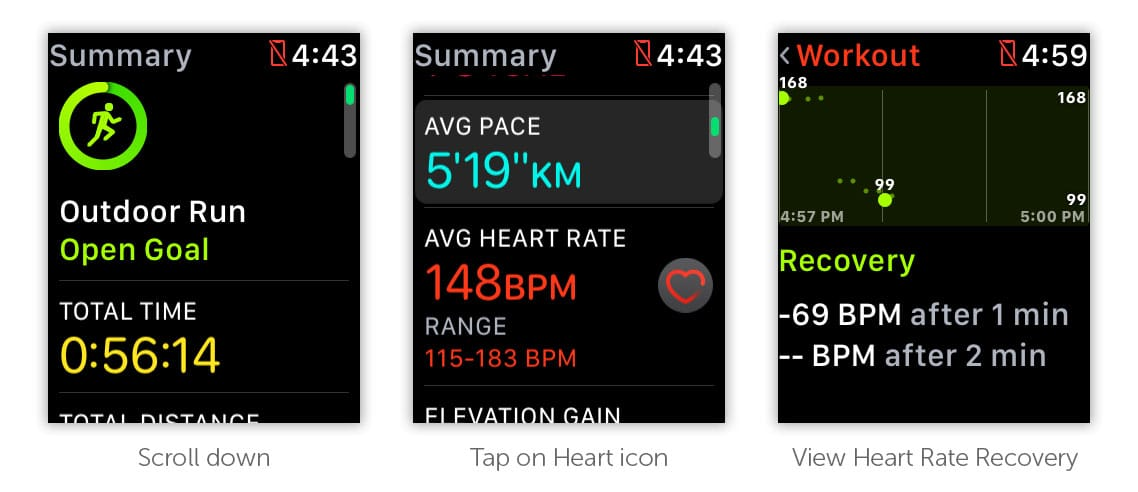 How to view your Heart Rate Recovery