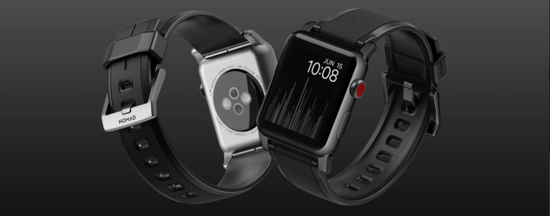 The Nomad Rugged Strap puts a stylish twist on the Apple Watch sports band.
