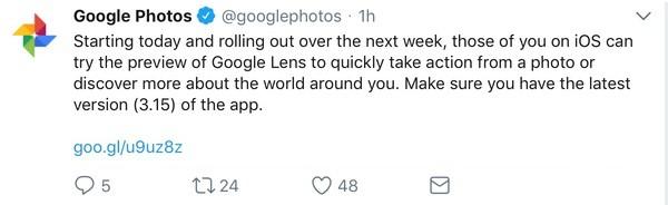 Google Lens announcement