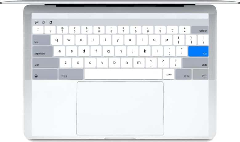 A dual-screen MacBook could look a little bit like this.