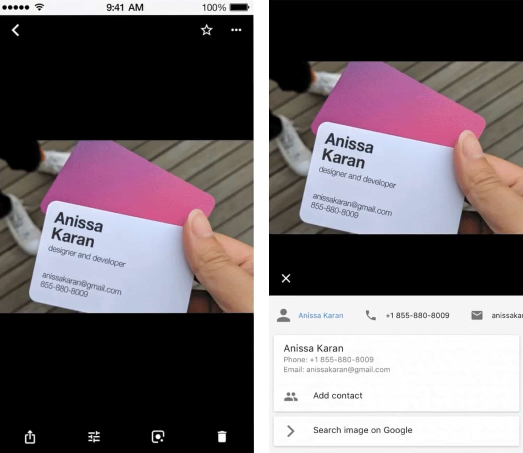 Google Lens in action