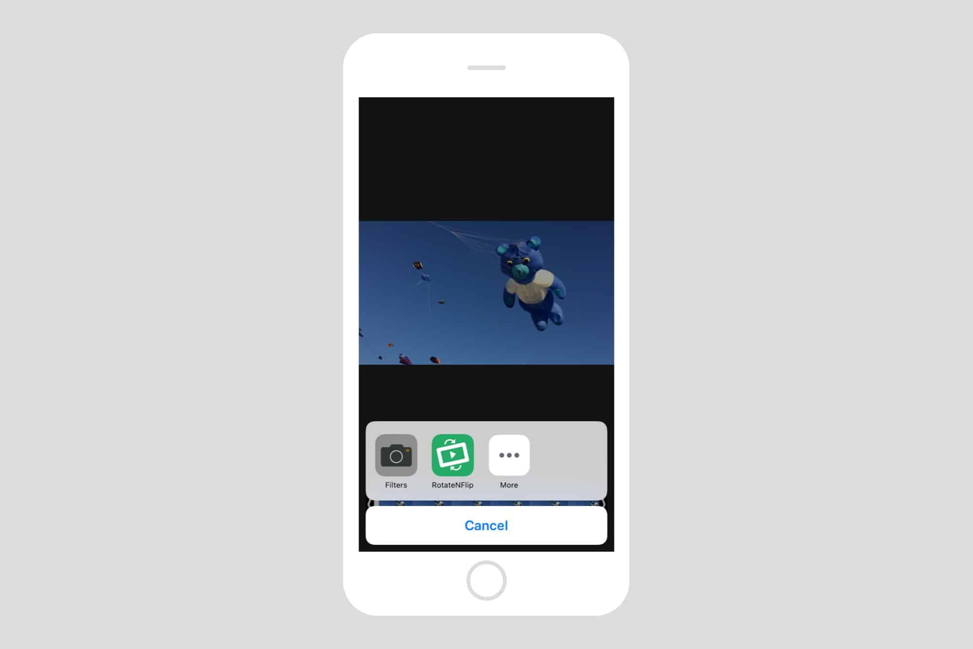 How to rotate video on your iphone cult of mac just tap here to open the rotatenflip panel inside photos app ccuart Choice Image