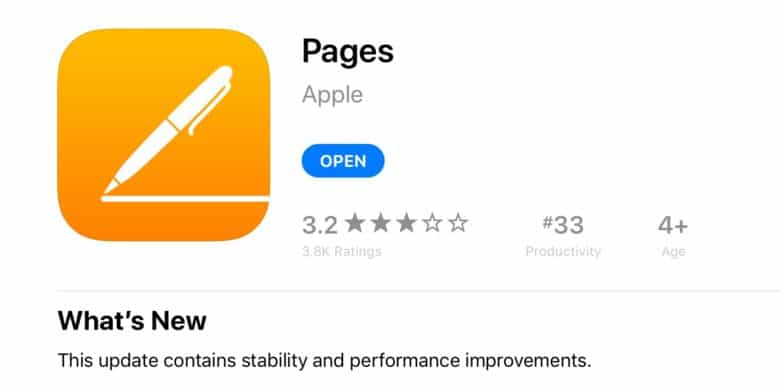 The App Store rules for What's New change