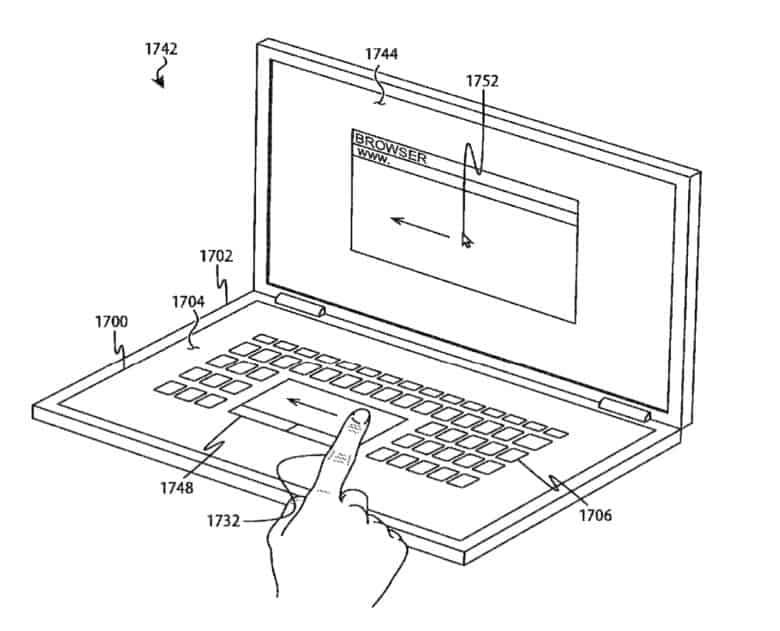 Dual-screen MacBook Patent Filing