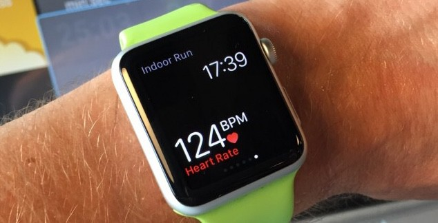 Apple Watch heart-rate monitor