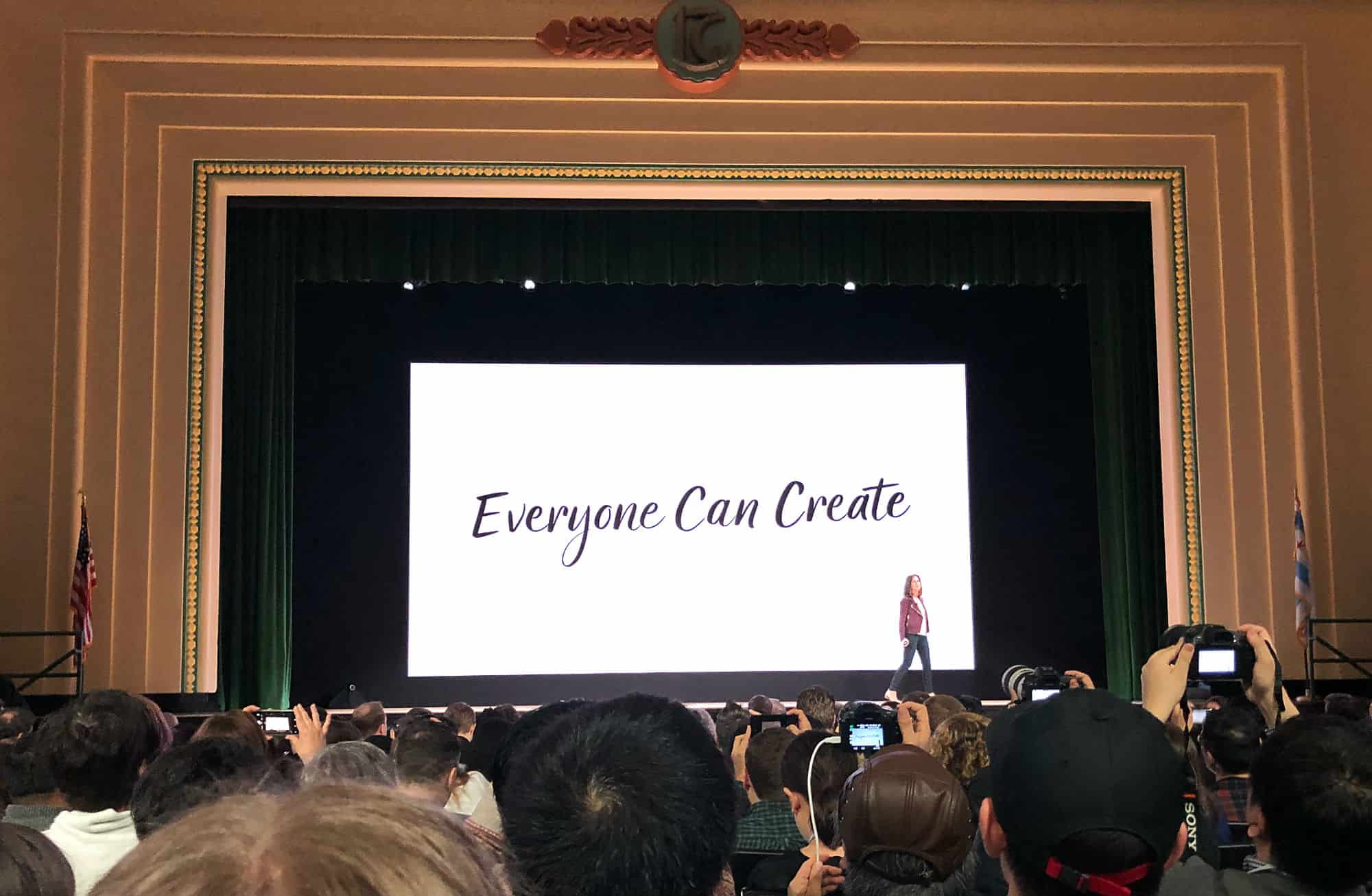Apple rolls out its Everyone Can Create curriculum at its iPad event on March 27, 2018.