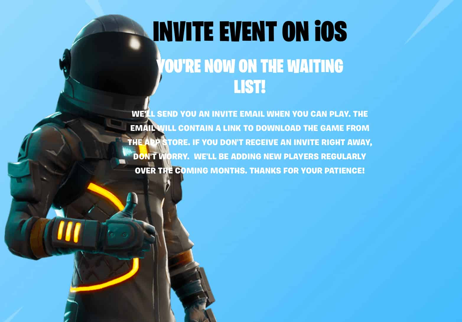 Fortnite invite list