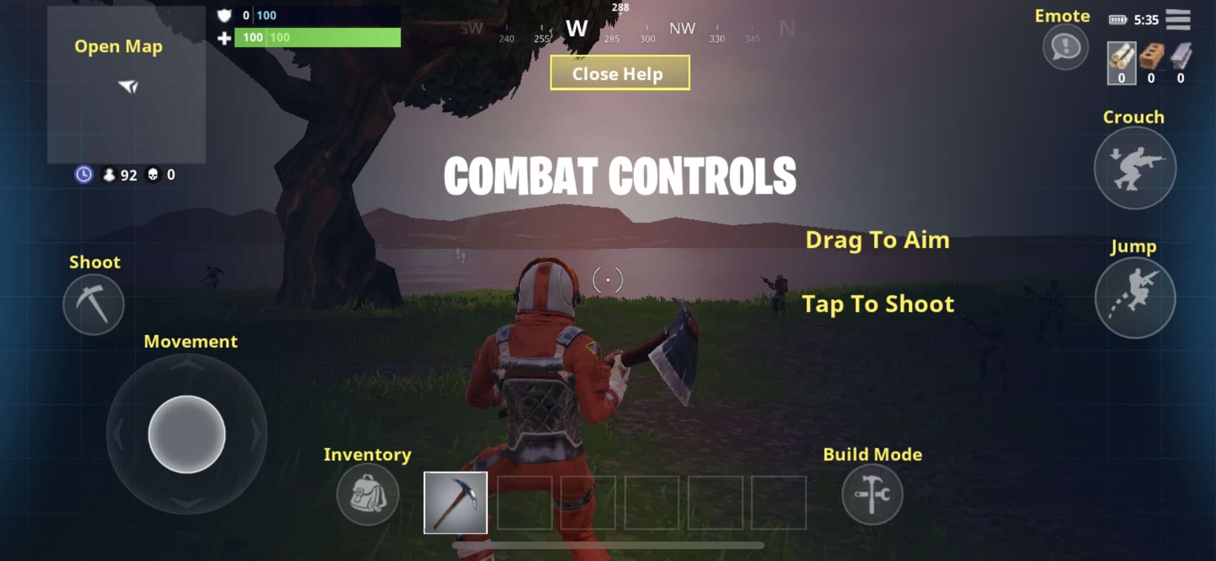 Fortnite iPhone controls