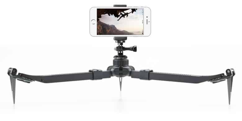 This rugged tripod can travel and set up anywhere you might want to snap a picture or take a video.