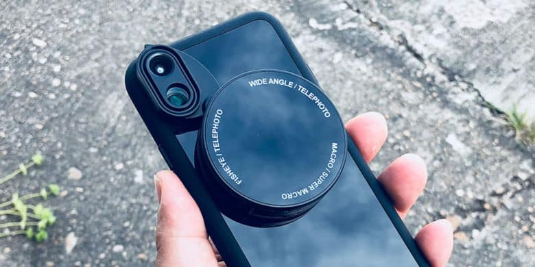 Instantly expand your iPhone's photographic possibilities with this 6-in-1 lens attachment.