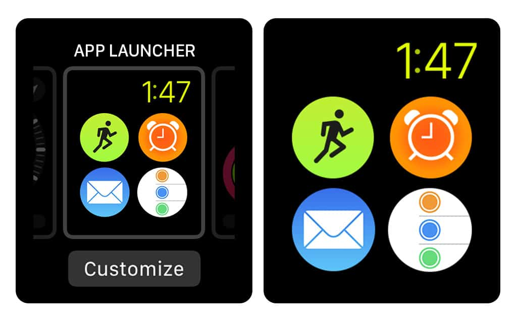 An App Launcher watch face could give you quick access to any apps