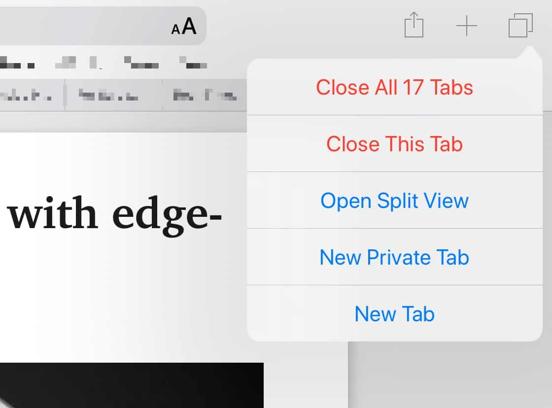 The iPad gets an added split-view option.