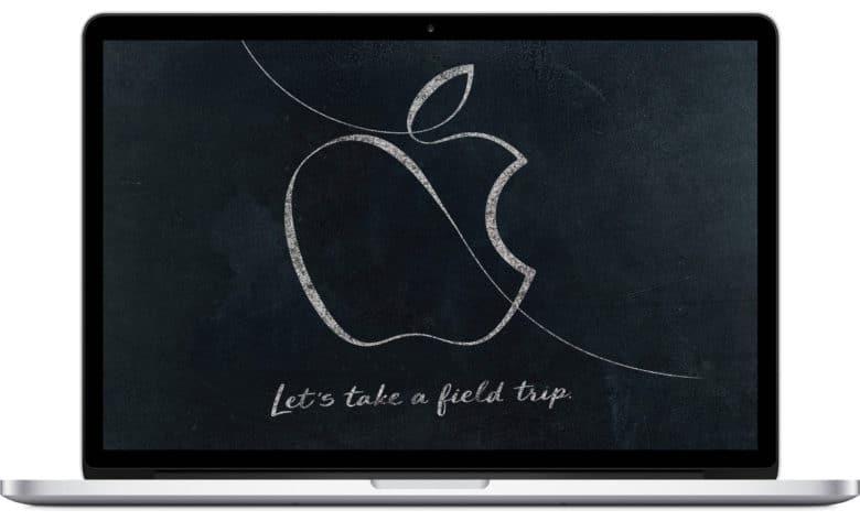 Apple Education Event invitation