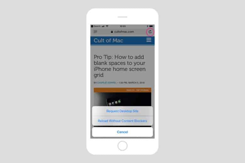 Pro Tip: Use Safari's secret page-reload options | Cult of Mac