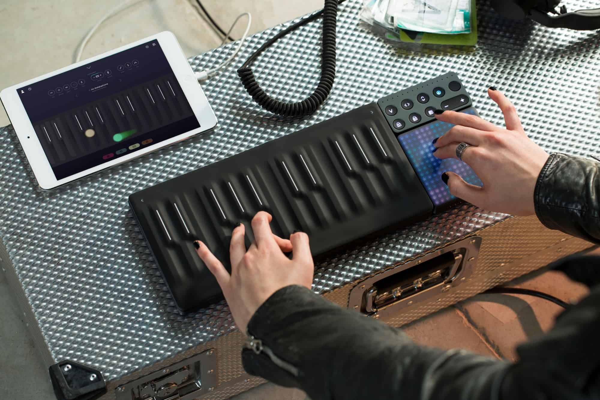 The modular Roli Songmaker Kit is wireless and extremely portable.