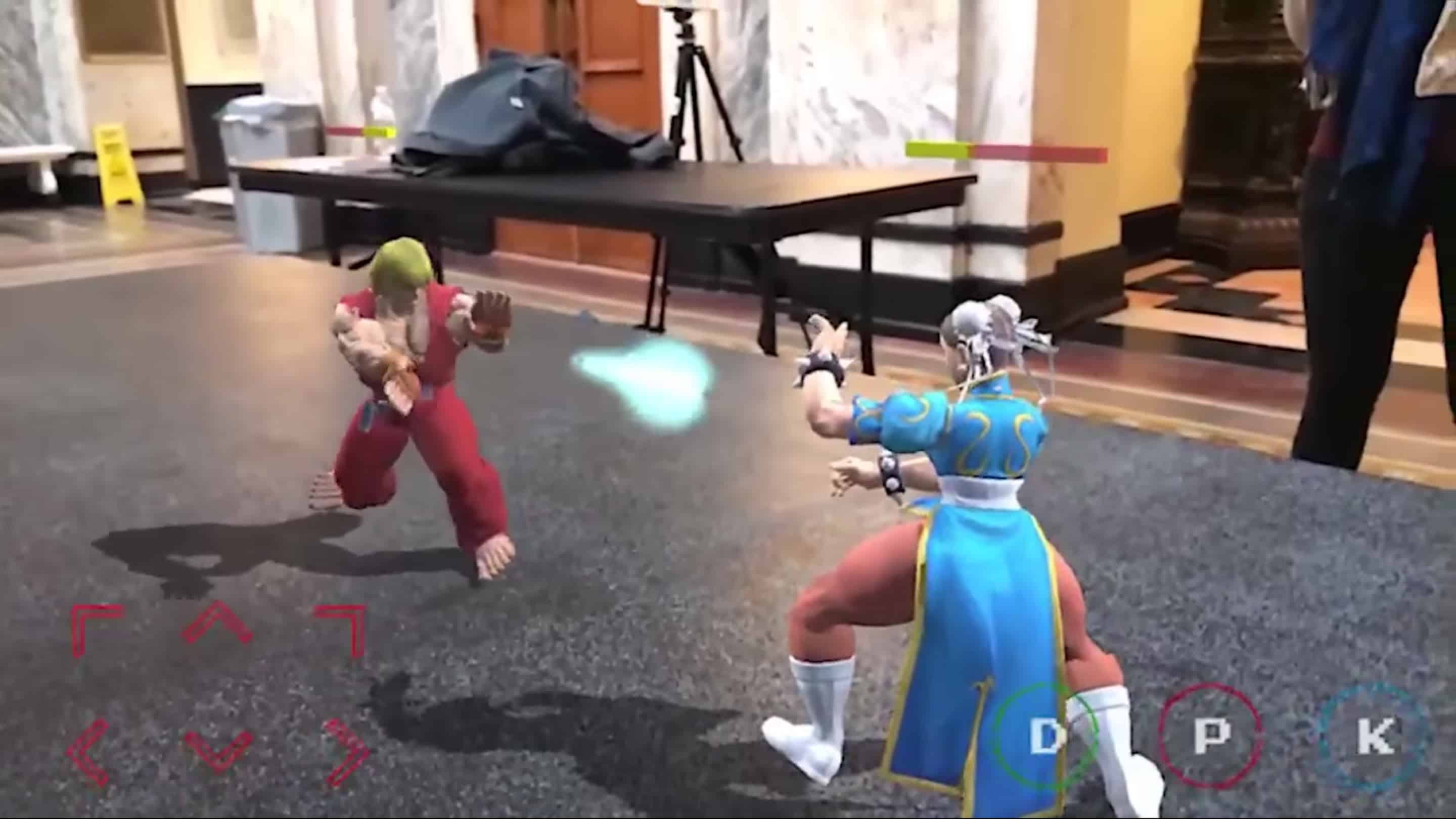 Street Fighter II in AR shows that old games can learn new tricks.