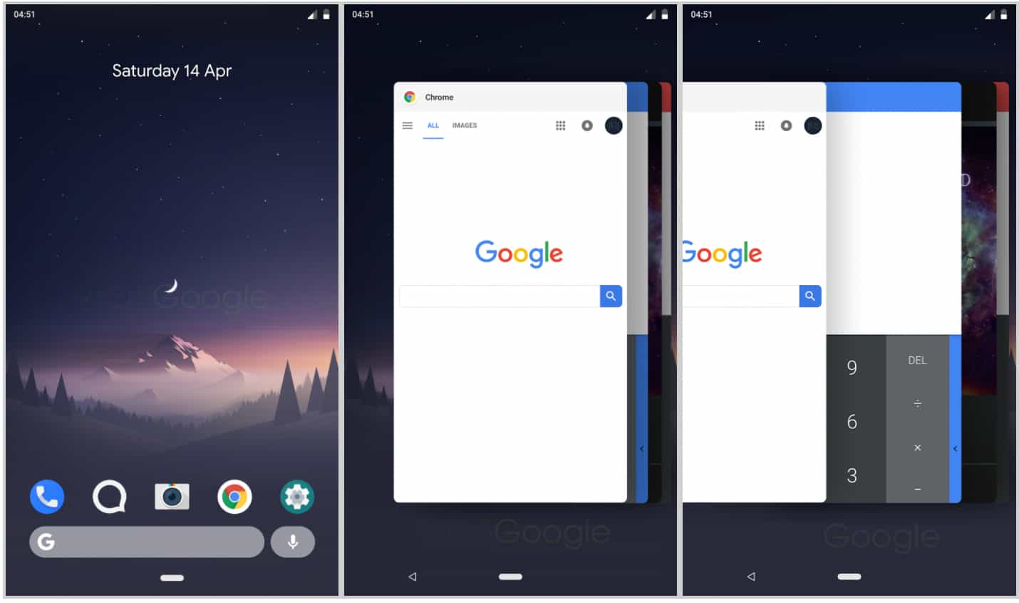 Android P app switcher