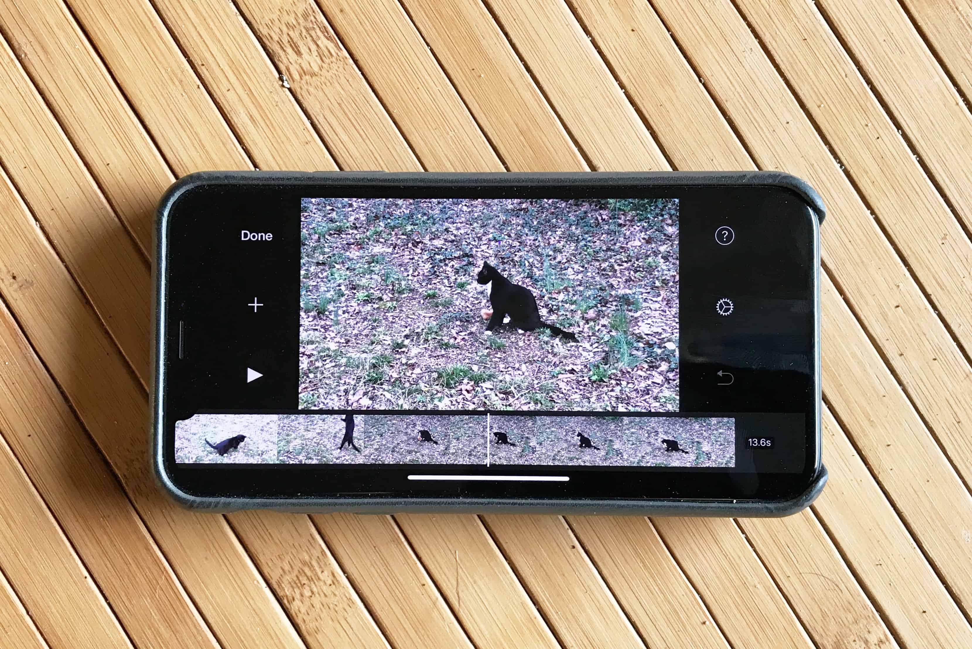 iMovie on iPhone X