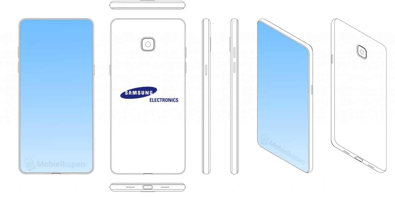Samsung bezel-less display
