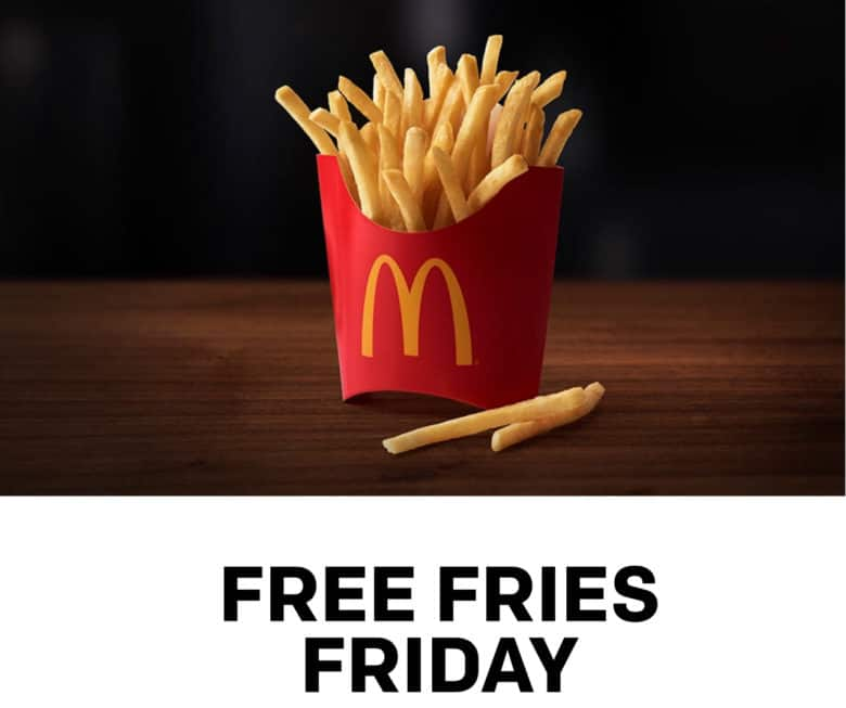 Free French fry Friday at McDonald's