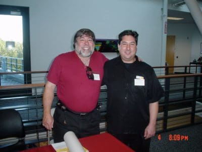 Vintage computer collector David Greelish with the one and only Steve Wozniak.