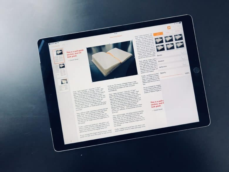 Now that Master Pages exist, Apple's Pages app for iPad and Mac may be the best