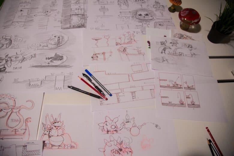 A glimpse at Oddmar level designs.