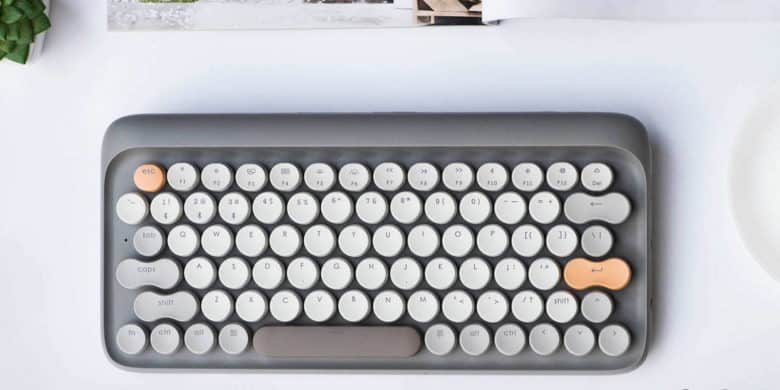 This mechanical keyboard merges tactile typing with hip design.