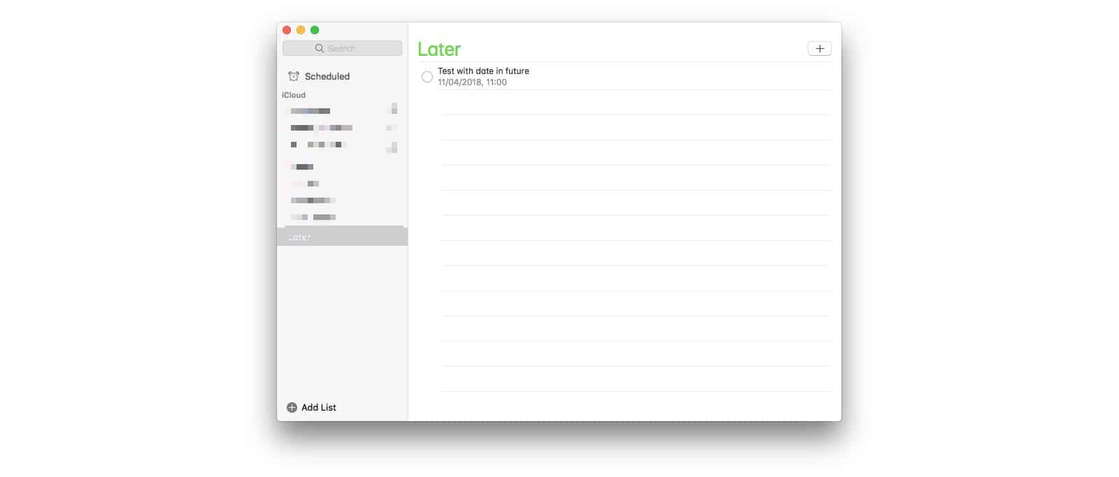 Using a do-it-later list in Reminders is easy.