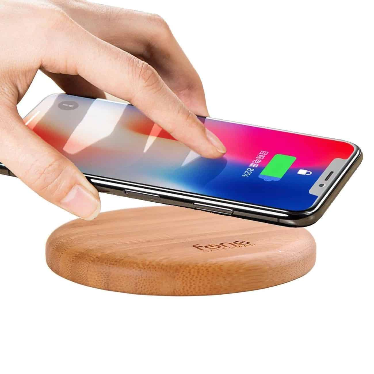 WoodPuck, a bamboo charger, makes a great addition to your home.