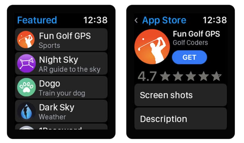 Install watch apps straight from your wrist [Mockup]