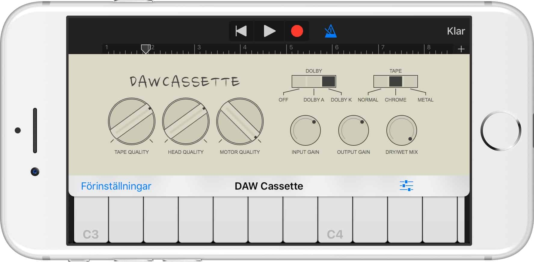 daw cassette puts tape emulation on your iPhone or iPad.