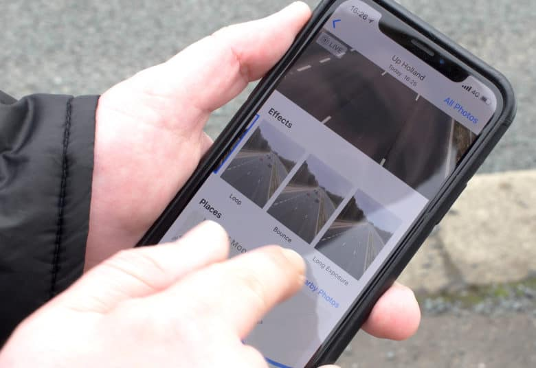 how to take live off iphone photos