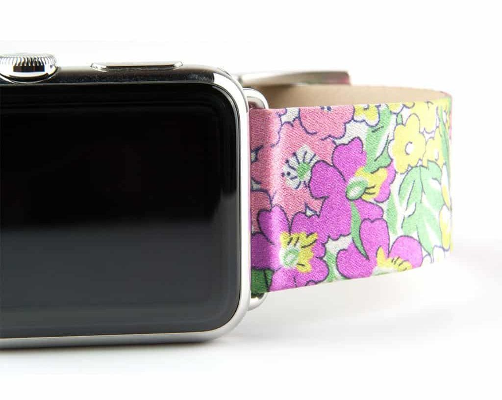 Clessant Liberty Silk Apple Watch band: These Apple Watch bands are painstakingly crafted using silk from Liberty London.