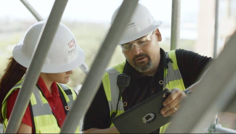 Construction company enjoys iPad savings in time and money.