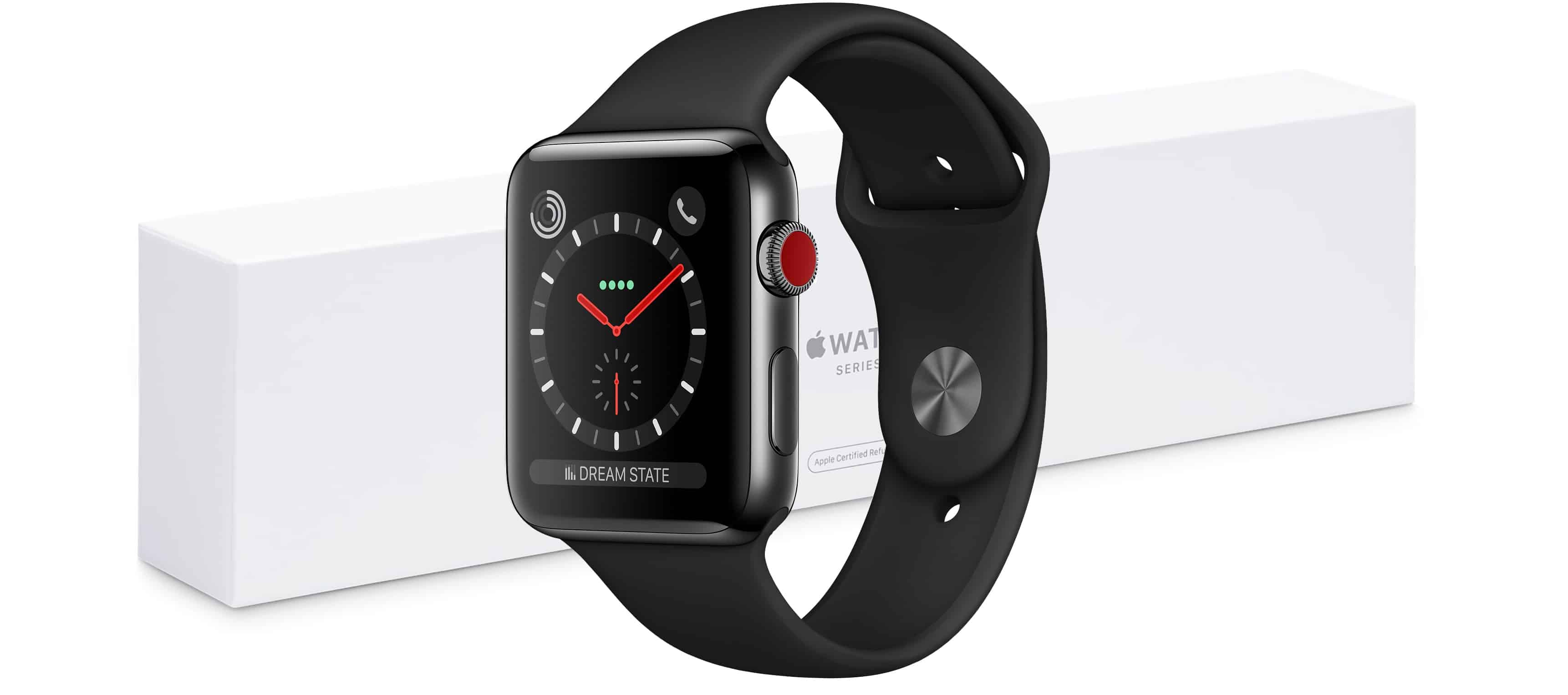Refurbished Apple Watch LTE units are available.