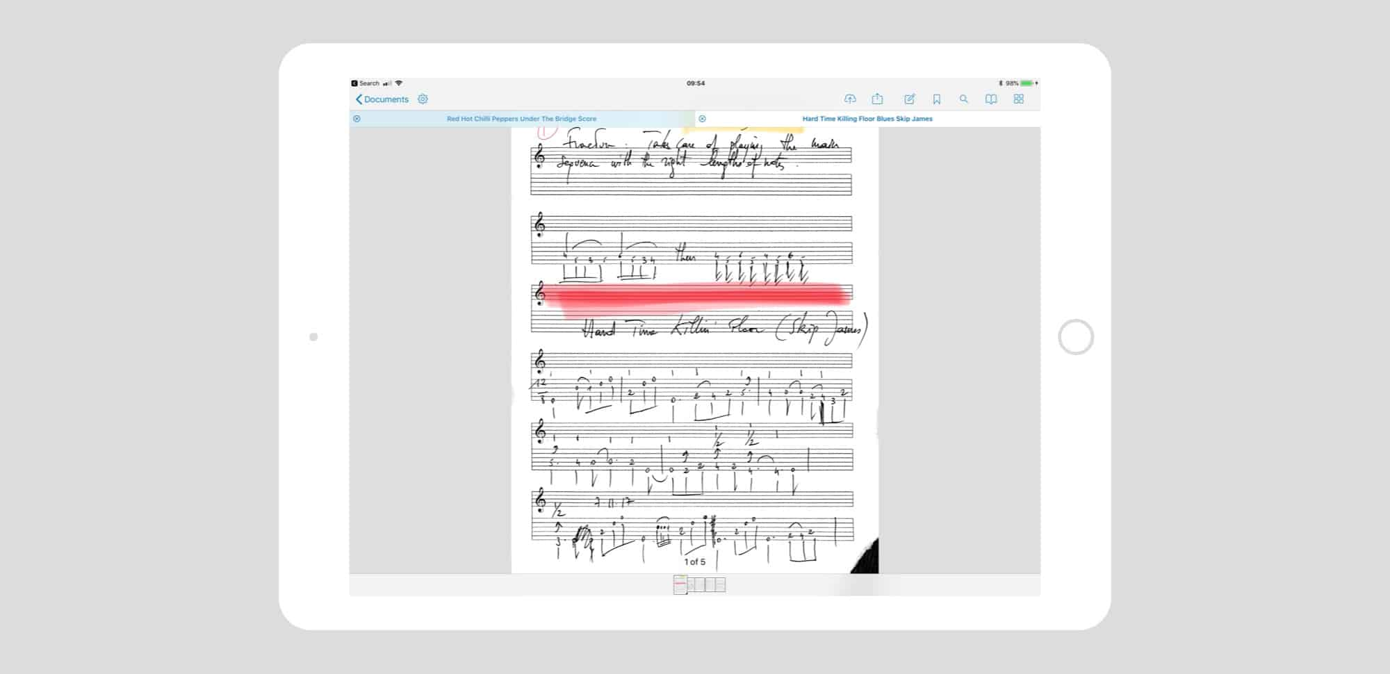 PDFs are a great way to keep and view music.