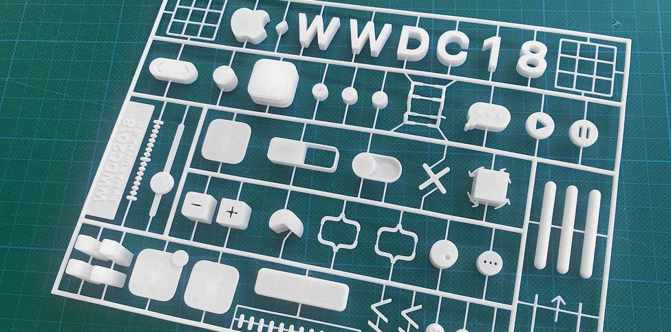 Buy a 3D printed version of the WWDC2018 logo
