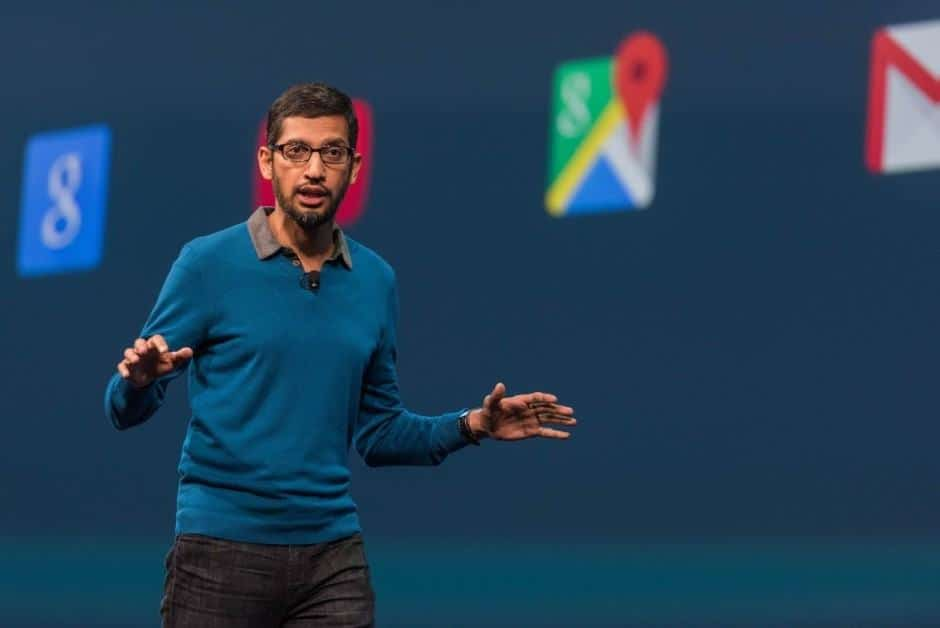Sundar Pichai at Google IO