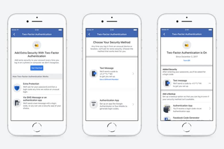 Facebook streamlines two-factor setup, adds support for home services to Marketplace