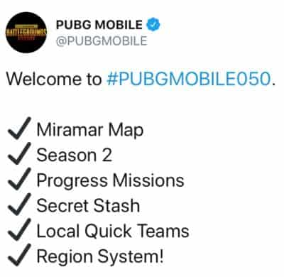 Everything new in PUBG Mobile 0.5.0