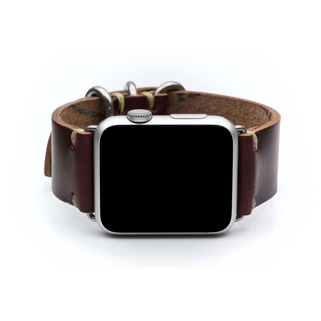E3 Apple Watch band in Burgundy Chromexcel leather