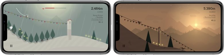 Alto's Adventure in-game on iPhone