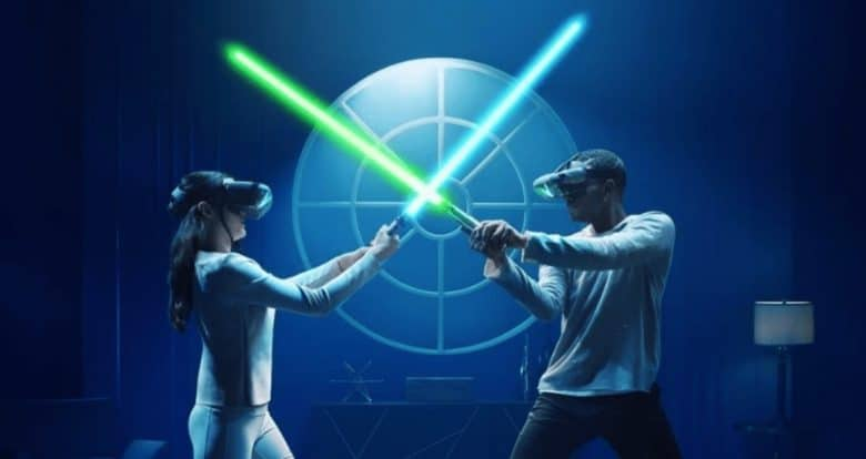 It's not your father's lightsaber, but Jedi Challenges lets you battle your megalomaniac dad or whiny son. Virtually, of course.