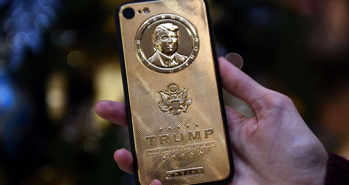 This is the Trump iPhone, but not Trump's iPhone.