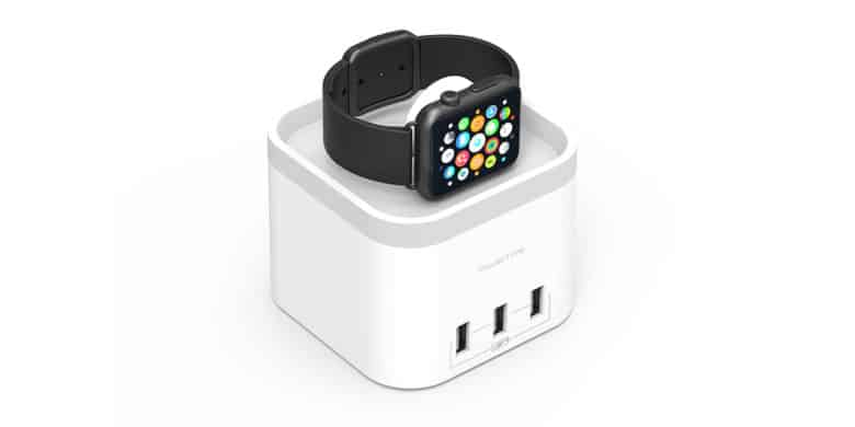 This sleek charging hub will revive your Apple Watch wirelessly, and three others via USB.
