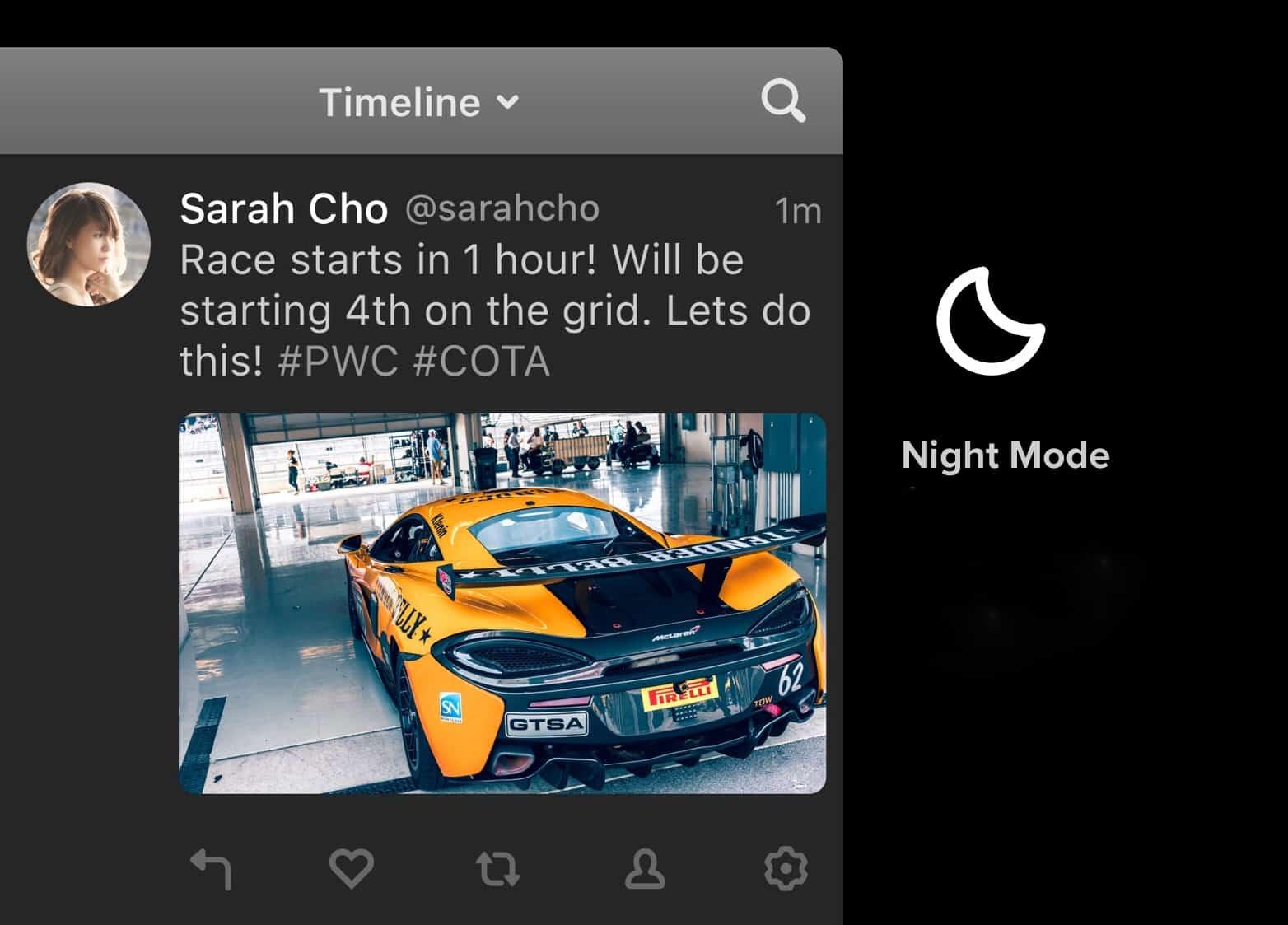 Tweetbot 3 for Mac night mode