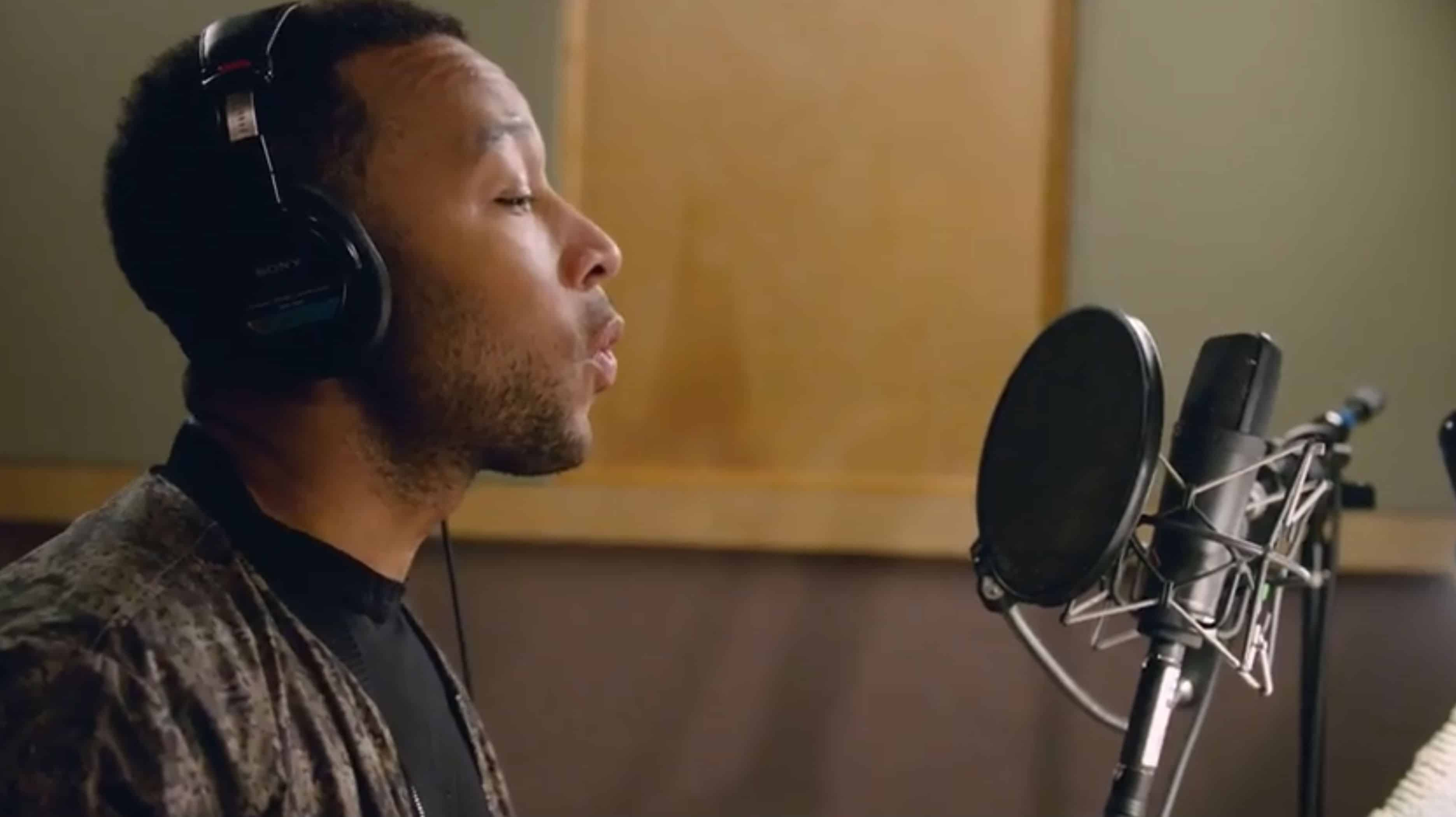 A demo from Google I/O shows John Legend recording his voice, which is coming soon to Google Assistant.