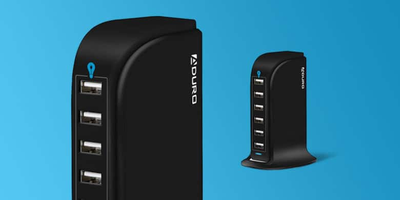 This USB charging hub sports 6 ports and a super durable build.