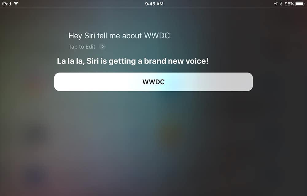 Siri voice